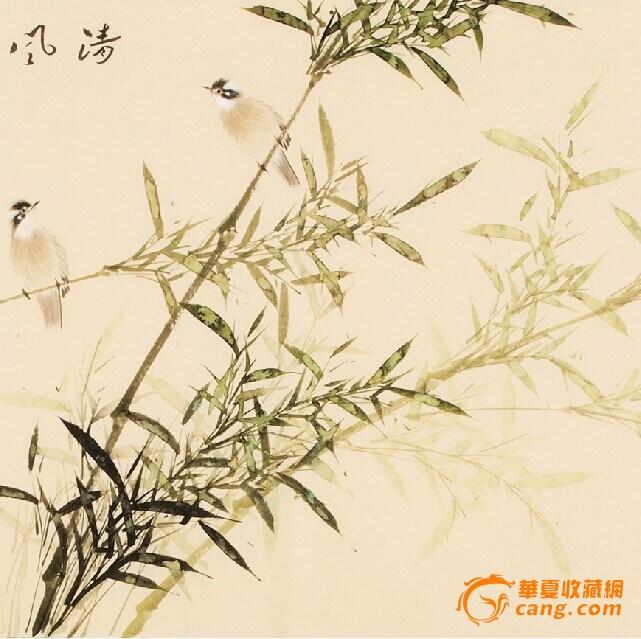 名家连俊洲国画仿古竹子手绘小六尺_在线拍卖_在线网