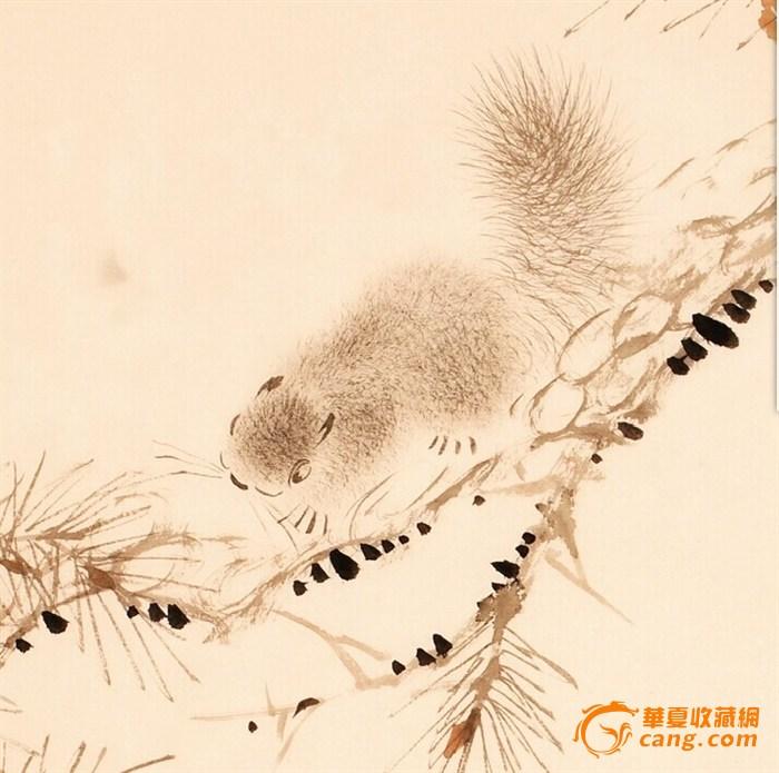 14~15 > 名家连俊洲国画松鼠松树手绘四尺三开   名家 连俊洲 写意