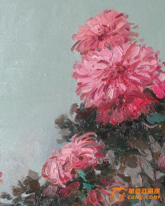 中央美术学院学院派冰洋创作油画花卉