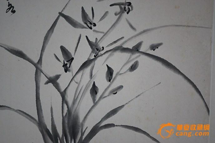 古风兰花手绘图片