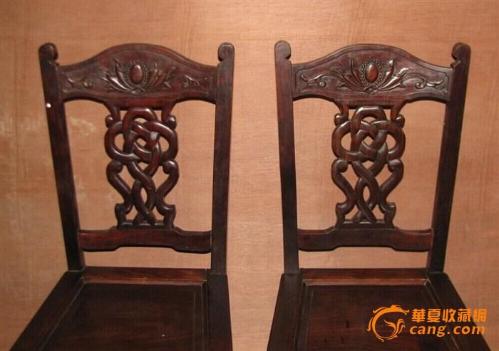 老红木雕刻椅子_在线拍卖
