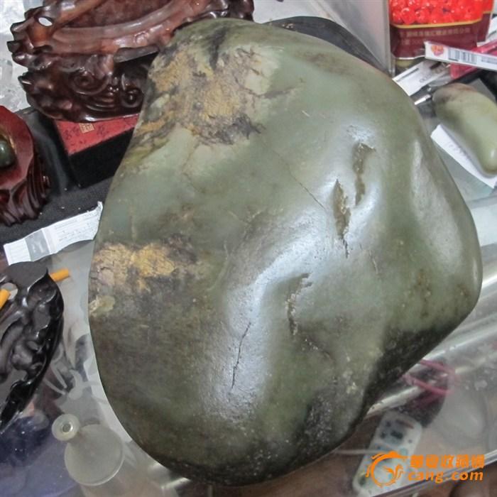 和田玉籽料原石青白大摆件细腻形好饱满13.8公斤