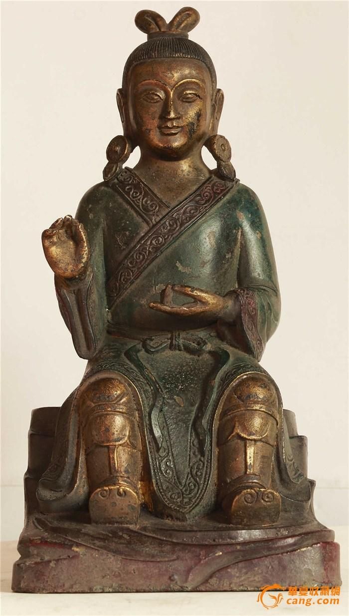 清晚期 铜鎏金彩绘  道教 人物 神像(消保賣家低价賣)