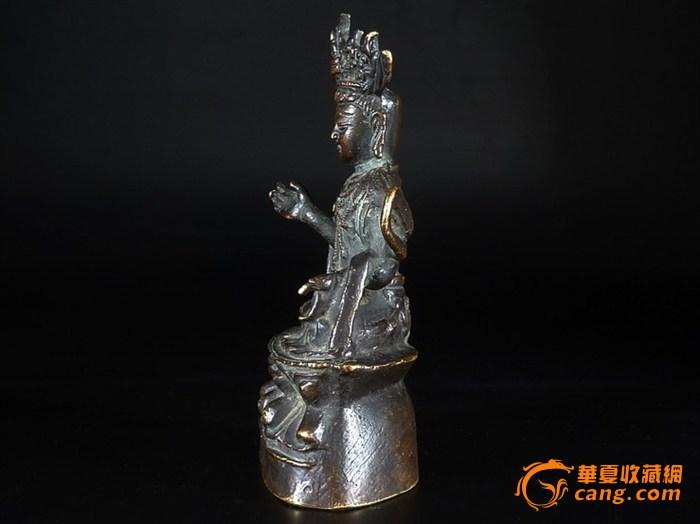 清代藏传佛教老铜观音菩萨佛像图5