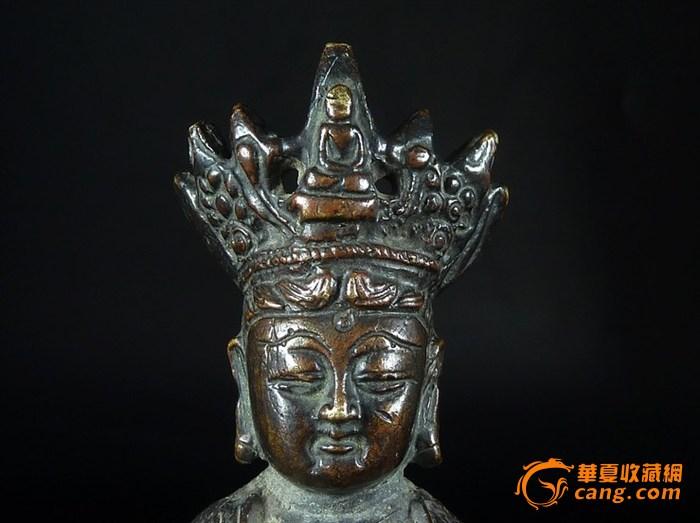 清代藏传佛教老铜观音菩萨佛像图9