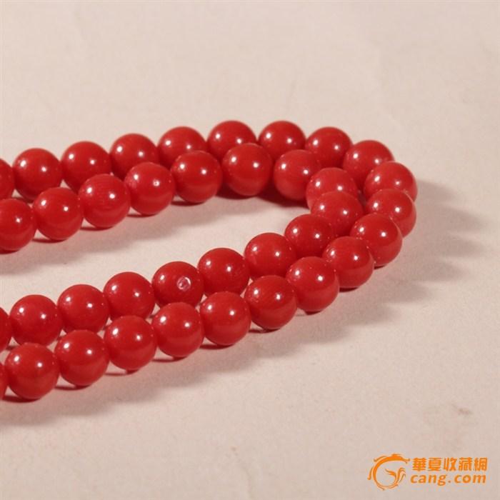 天然意大利沙丁红珊瑚佛珠手链 5mm图3