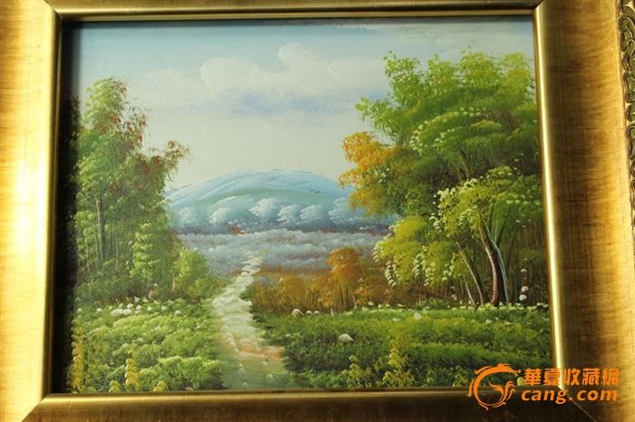 林间小路风景油画
