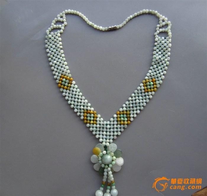 豪华翡翠编织项链图5
