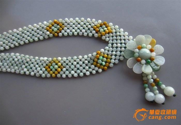 豪华翡翠编织项链_在线拍卖