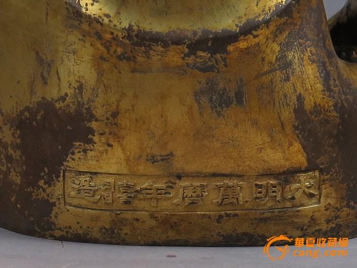 """【压轴・高55cm】清末 铜鎏金""""释迦牟尼""""佛图9"""