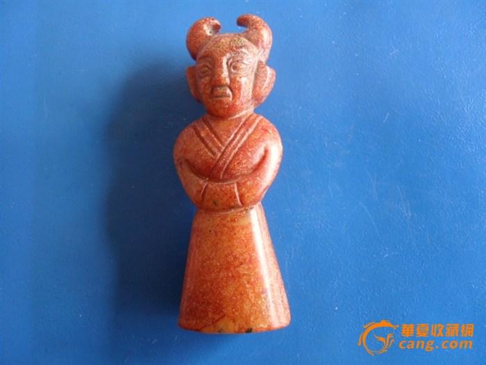 古代黄玉小童子图片