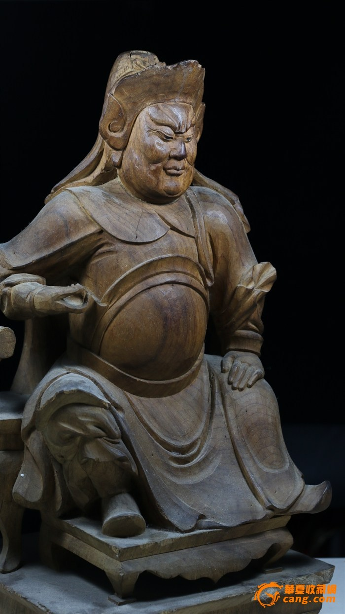 """旧藏精美老木雕""""关公坐像"""""""