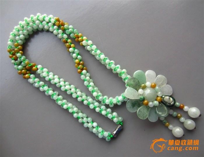 翡翠编织项链 毛衣链