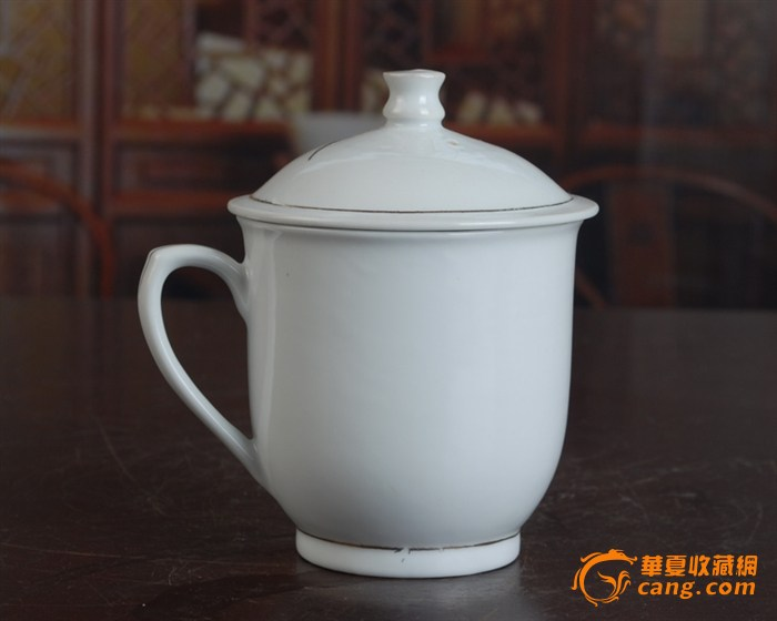 景德镇陶瓷/文革瓷器/古瓷器/全手工彩绘釉把子墨竹图茶杯图3