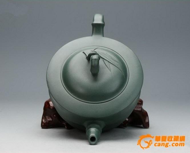 宜兴紫砂壶.稀有精致民国绿泥.名家全手工.特价正品【节节高】图5