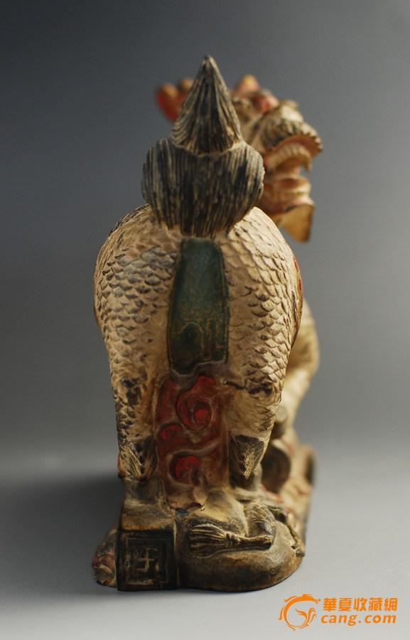 麒麟木雕摆件_在线拍卖