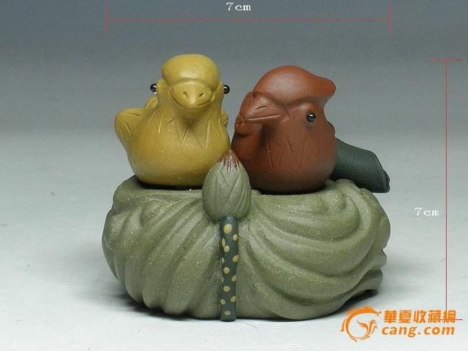 『形影不离』宜兴紫砂茶宠 手工精品 茶具摆件茶玩 鸳鸯图1