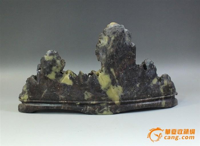 创汇期寿山石雕山水摆件