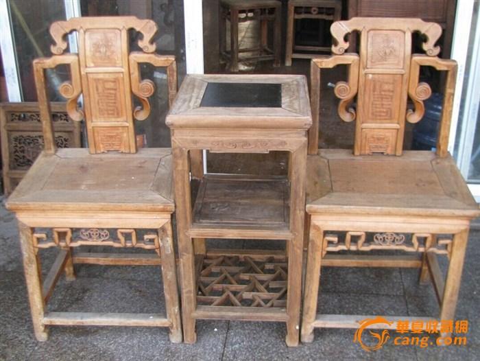 联盟---钩子工柏木单背椅(带茶几)