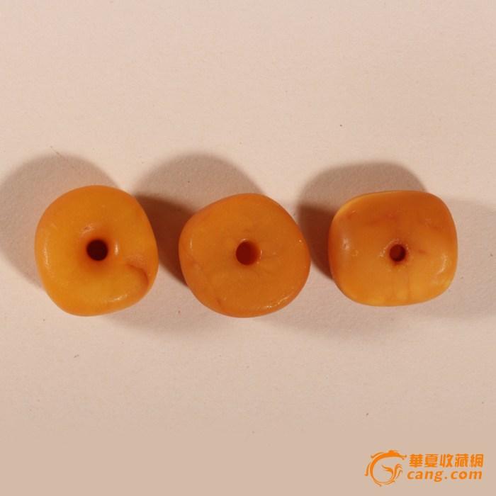 【联盟】【清】 极美天然 老蜜蜡饼 9.7克 3个