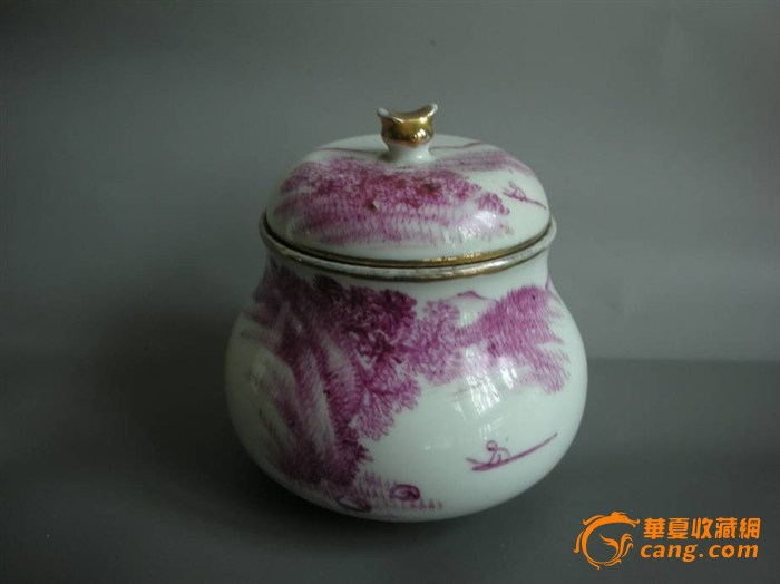 (联盟)珊瑚红老瓷罐一只