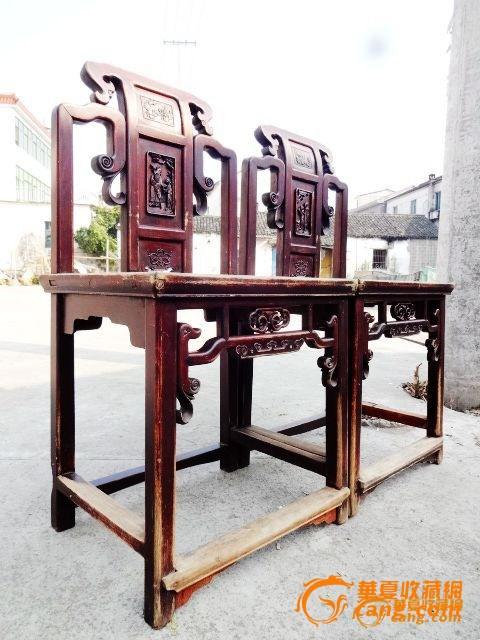 清代。书卷如意。中国结。典故。四爱图。人物椅一对