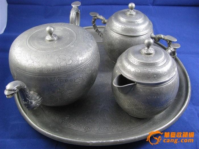 【联盟】海外回流晚清吉兴款外销锡制茶具一套