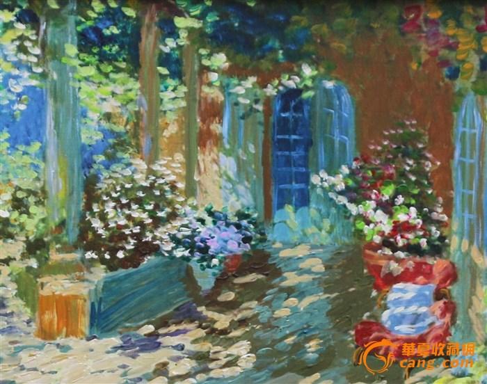 手绘油画(花园)