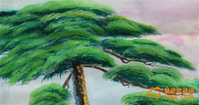 手绘油画(松树)b-2-2