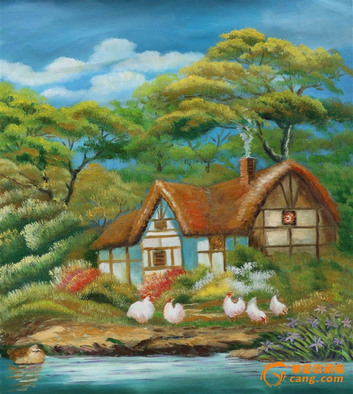 手绘油画(乡村)