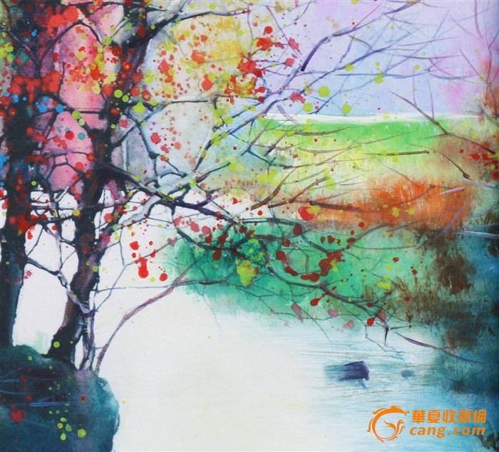 手绘油画(风景抽象画)