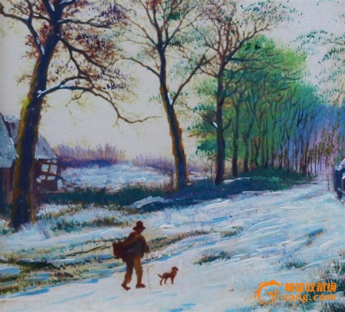 手绘油画(雪)