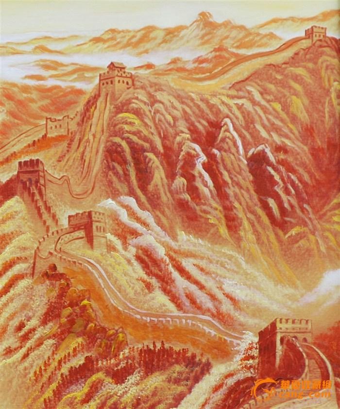 手绘油画(长城)图2
