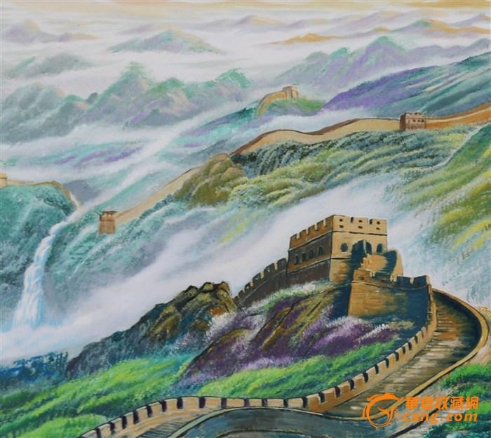 手绘油画(万里长城)
