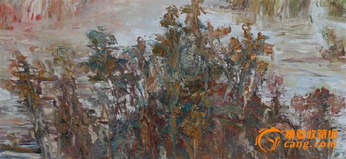 手绘油画(山 抽象)