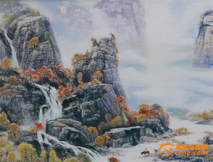 手绘油画(雪山)