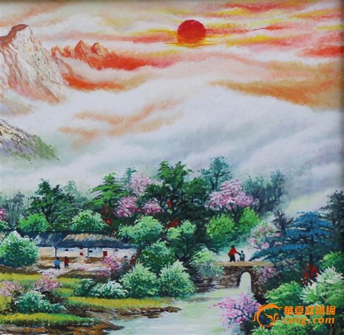 手绘油画(夕阳)