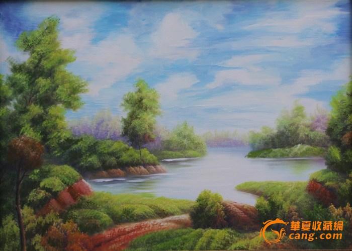 手绘油画(湖)