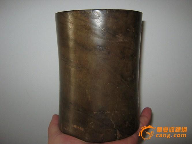 清代金丝楠木束腰笔筒图1