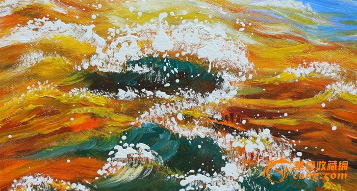 手绘油画色彩有层次感