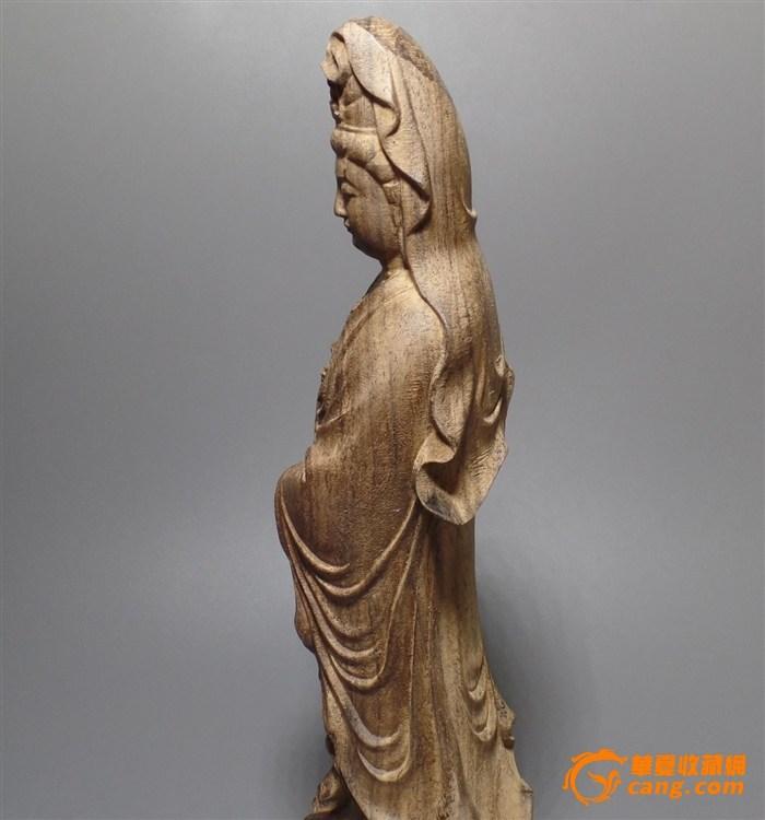木雕观音摆件