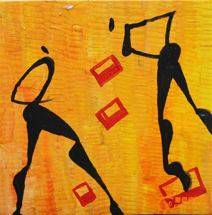 现代装饰画客厅装饰画 壁画挂画 欧式简约无框画抽象画 人物舞蹈