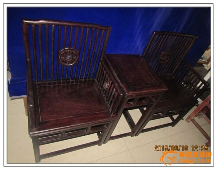 【明式家具】红木玫瑰椅三件套