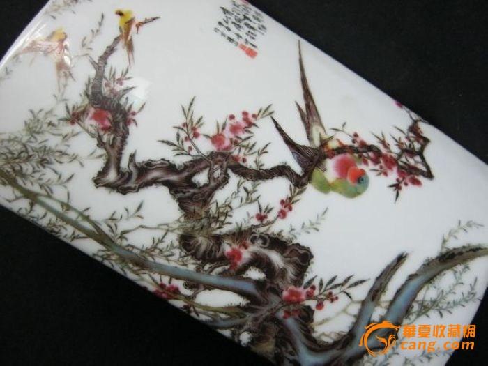 字画鸟语花香瓷挂