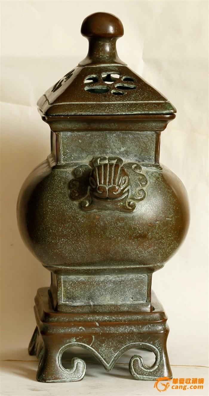 """晚晴寄托""""乾隆年制""""款 三件套 造型浑圆端庄级有�致的铜熏炉(消保�u家低价�u�N)图6"""