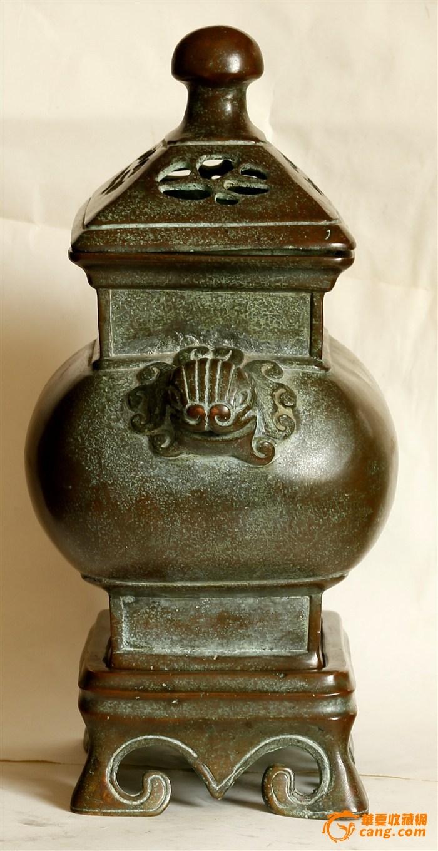 """晚晴寄托""""乾隆年制""""款 三件套 造型浑圆端庄级有�致的铜熏炉(消保�u家低价�u�N)图8"""