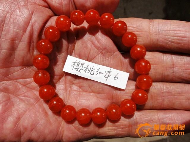 樱桃红南红圆珠手串6