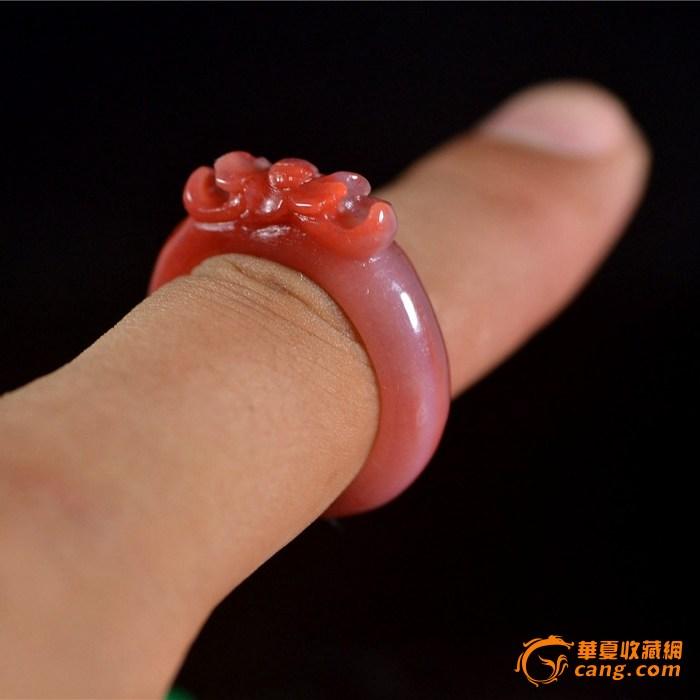 南红玛瑙 莲花 戒指