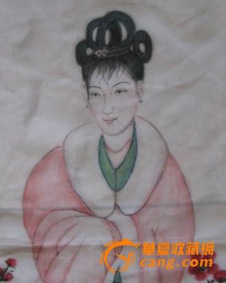 中国书画研究会九十三岁老会员陈宗超作品 绢画 赏梅图
