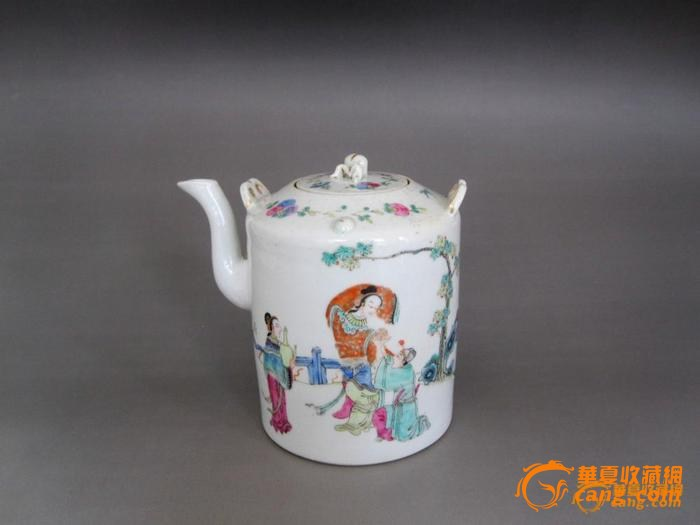 【联盟】清道光粉彩人物纹茶壶
